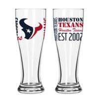 Boelter NFL Houston Texans 2-Pack Pilsner Glass Set