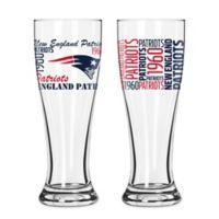 Boelter NFL New England Patriots 2-Pack Pilsner Glass Set