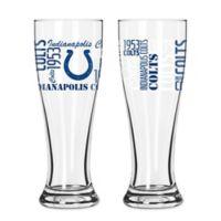 Boelter NFL Indianapolis Colts 2-Pack Pilsner Glass Set