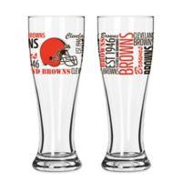 Boelter NFL Cleveland Browns 2-Pack Pilsner Glass Set