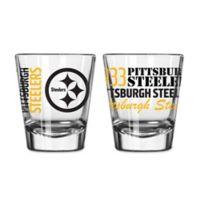 Boelter NFL Pittsburgh Steelers 2-Pack Shot Glass Set