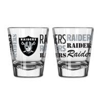 Boelter NFL Oakland Raiders 2-Pack Shot Glass Set