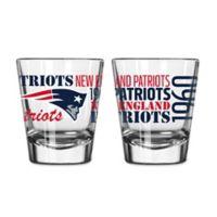 Boelter NFL New England Patriots 2-Pack Shot Glass Set