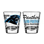 Boelter NFL Carolina Panthers 2-Pack Shot Glass Set