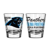 Boelter NFL Carolina Panthers 2-Pack Shot Glass Set