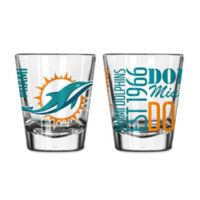 Boelter NFL Miami Dolphins 2-Pack Shot Glass Set