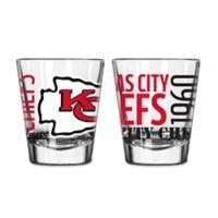 798872de Boelter NFL Kansas City Chiefs 2-Pack Shot Glass Set