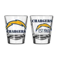 Boelter NFL San Diego Chargers 2-Pack Shot Glass Set