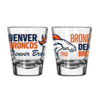 Boelter NFL Denver Broncos 2-Pack Shot Glass Set