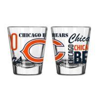 Boelter NFL Chicago Bears 2-Pack Shot Glass Set