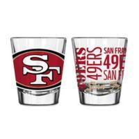Boelter NFL San Francisco 49ers 2-Pack Shot Glass Set