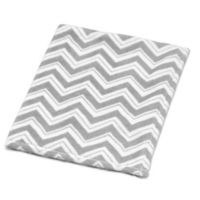 Sweet Jojo Designs Zig Zag Chevron Plush Baby Blanket in Grey/White