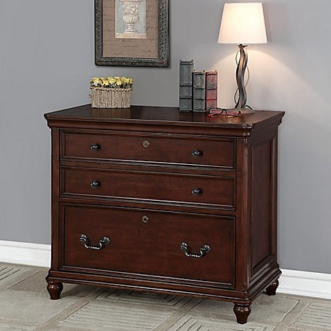 Oxford 3 drawer lateral file cabinet in dark wood bed - Dark wood bathroom storage cabinets ...