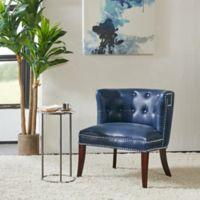 Madison Park Bianca Shelter Slipper Chair in Navy