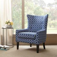 Madison Park Carissa Shelter Wing Chair in Navy