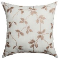 Softline Home Fashions Albany Square Throw Pillow in Latte