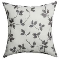 Softline Home Fashions Albany Square Throw Pillow in Pewter