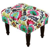 Skyline Upholstered Tufted Ottoman in Santa Maria Desert Flower