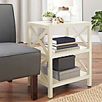 Chatham House Wesbury Side Table in Ivory