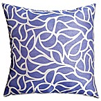 Softline Home Fashions Geometric Jacquard Square Throw Pillow in Blue/Violet