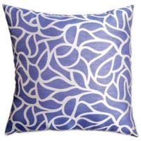 Softline Home Fashions Geometric Jacquard Square Throw Pillow in Blue/Violet
