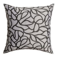 Softline Home Fashions Geometric Jacquard Square Throw Pillow in Charcoal