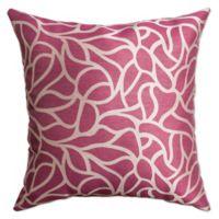 Softline Home Fashions Geometric Jacquard Square Throw Pillow in Flamingo Pink
