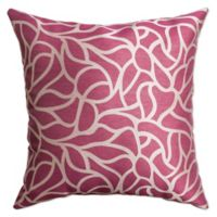 Softline Home Fashions Geometric Jacquard Square Throw Pillow In Flamingo Pink