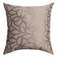 Softline Home Fashions Geometric Jacquard Square Throw Pillow in Steel