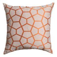 Tencel 18-Inch Square Throw Pillow in Orange