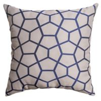 Tencel 18-Inch Square Throw Pillow in Sapphire Blue