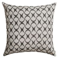 Hale 18-Inch Square Throw Pillow in Midnight Black