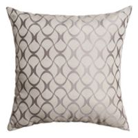 Hale 18-Inch Square Throw Pillow in Silver