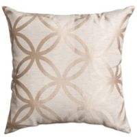 Softline Home Paloma 18-Inch Square Throw Pillow in Natural