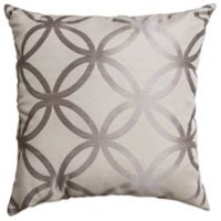 Softline Home Paloma 18-Inch Square Throw Pillow in Silver