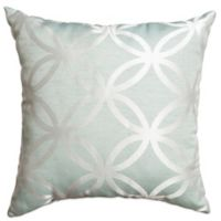 Softline Home Paloma 18-Inch Square Throw Pillow in Spa