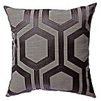 Softline Home Fashions Tribeca Square Throw Pillow in Gunmetal