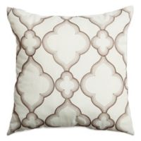 Softline Home Zenon 18-Inch Square Throw Pillow in Latte