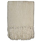 Streamers 50-Inch x 60-Inch Throw Blanket in Cream