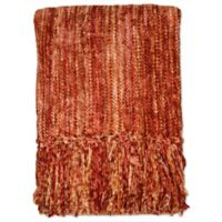 Streamers 50-Inch x 60-Inch Throw Blanket in Rust