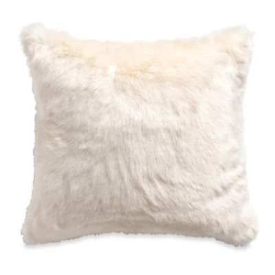 Buy MYOP Polar Fur Square Throw Pillow Cover in Cream from Bed Bath & Beyond