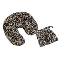 Travel U-Neck Slipcover with Pocket in Leopard