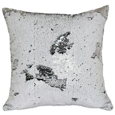 Buy White Silver Throw Pillow from Bed Bath Beyond