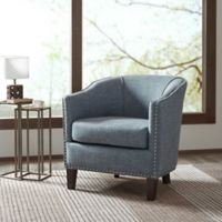 Madison Park Fremont Barrel Arm Chair in Slate Blue