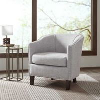 Madison Park Fremont Barrel Arm Chair in Cream