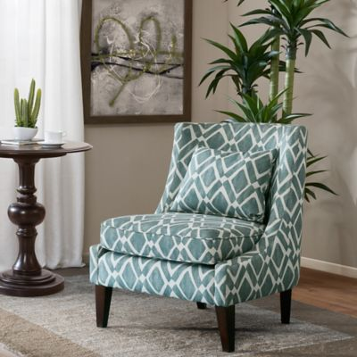 Madison Park™ Waverly Swoop Arm Chair in Blue & Buy Blue Armless Chair from Bed Bath u0026 Beyond