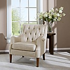 Madison Park Qwen Tufted Accent Chair in Cream