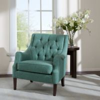 Madison Park Qwen Tufted Accent Chair in Teal