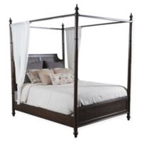 Powell Passages King Bed with Canopy in Walnut