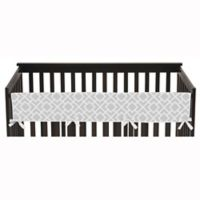 Sweet Jojo Designs Diamond Long Crib Rail Guard Cover in Grey/White